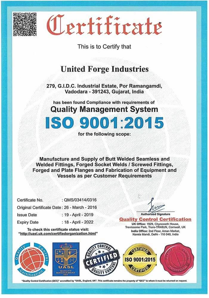 united-fordge-iso-certificate