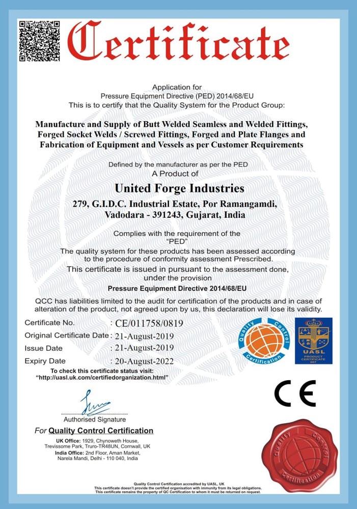 united-fordge-ped-certificate